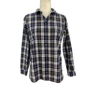 J.Crew Shrunken Boy Shirt Long Sleeve Plaid Size 8